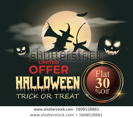Background template with fullmoon at night Stock photo © bluering
