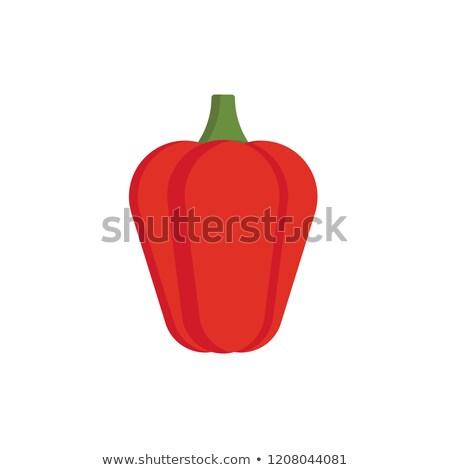 красный перец белый изолированный реалистичный иллюстрация Сток-фото © ConceptCafe