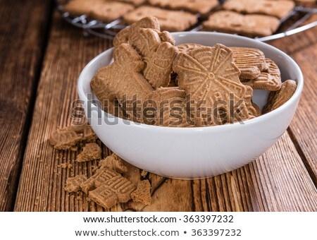 Almond speculaas cookies Stock photo © Hofmeester