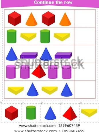 Próximo jogo crianças desenvolvimento lógica Foto stock © Olena