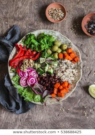 Vegetáriánus tál étel étel háttér vacsora Stock fotó © M-studio