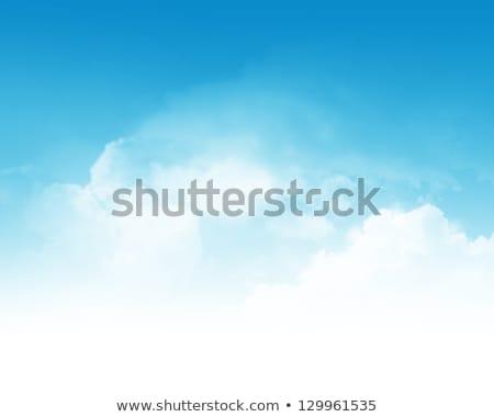 beams of light sky blue with white clouds Stock photo © lunamarina