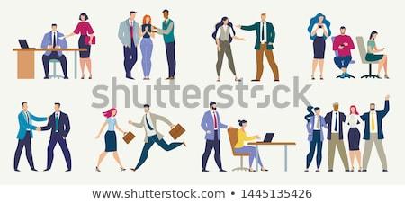 Empresário secretário conjunto mulher trabalhando pessoas Foto stock © robuart