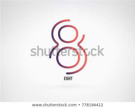 Otto numero logo icona design segno Foto d'archivio © blaskorizov
