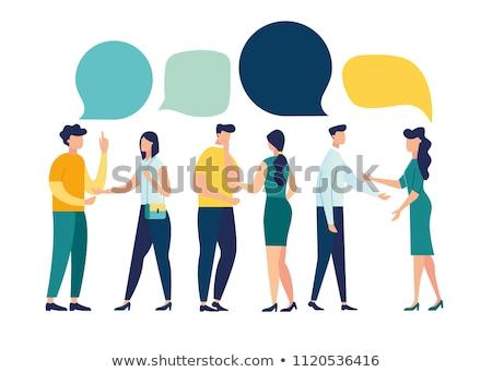 Internationale bedrijfsleven activiteit netwerk man vector persoon Stockfoto © robuart