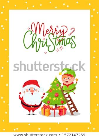エルフ · クリスマスツリー · 星 · 先頭 - ストックフォト © robuart