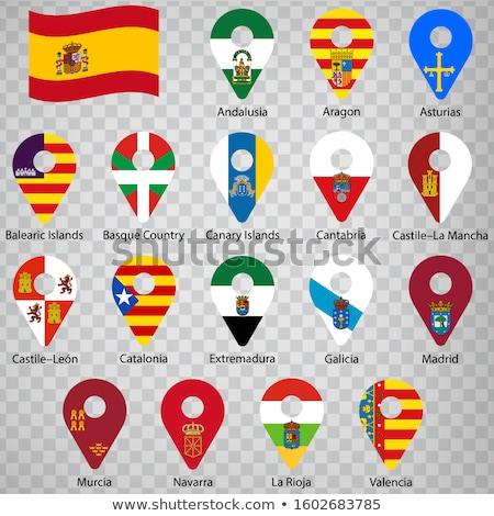 Aragon flag, autonomous community in Spain Stock photo © grafvision