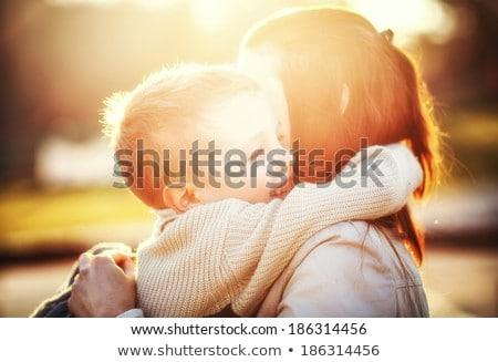 Moeder kind lopen park familie Stockfoto © ElenaBatkova