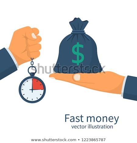 クイック 現金 ドル アイコン グラフィックデザイン テンプレート ストックフォト © haris99