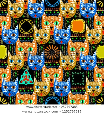 Native Bright Seamless Pattern from boho mandala Stock photo © barsrsind