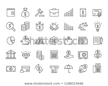 Finance Icon, Dollar and Coin, Bullion Vector Stock photo © robuart
