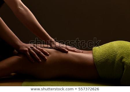 Masseur Doing Massage on Woman Back in Spa Salon Stock photo © robuart