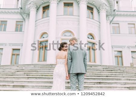 Rosyjski ślub ręce chleba spotkanie dziewczyna Zdjęcia stock © olira