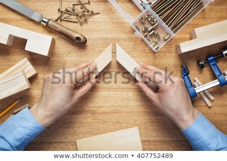 ワーカー 木材 ボックス 職業 大工仕事 ストックフォト © olira