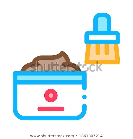 Shoe Cream Brush Icon Vector Outline Illustration Stock photo © pikepicture