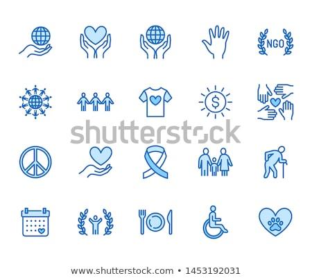 Világszerte pénz ikon vektor skicc illusztráció Stock fotó © pikepicture