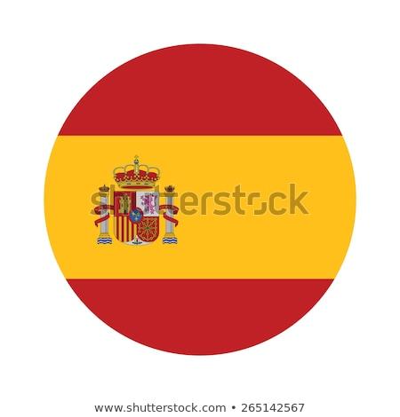 Hiszpania banderą biały świat Europie kraju Zdjęcia stock © butenkow