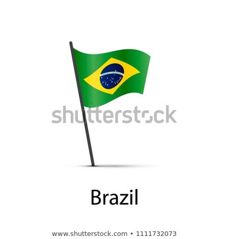 Brazilië vlag paal element witte Stockfoto © evgeny89