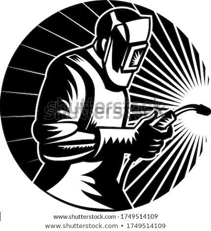 сварки факел круга ретро Сток-фото © patrimonio