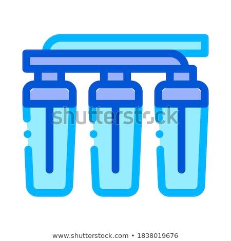 Water finale vector teken dun lijn Stockfoto © pikepicture
