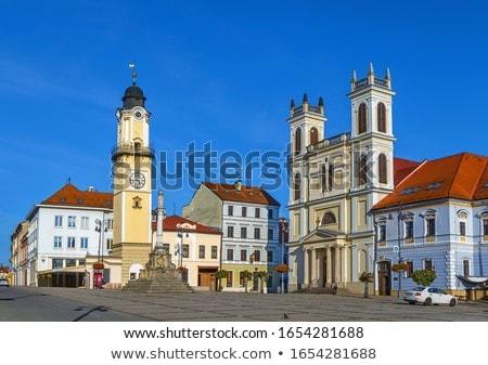 Kathedraal Slowakije vierkante hemel stad reizen Stockfoto © borisb17