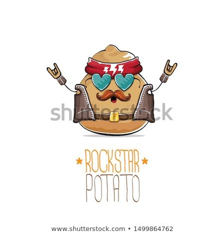 funny man in jacket cartoon comic character Stock photo © izakowski