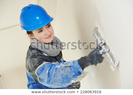 female plasterer stock photo © photography33