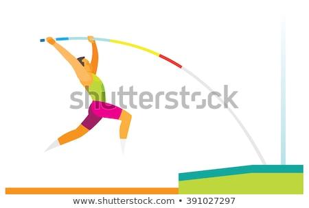 atleta · polo · brano · campo · uomo · sfondo - foto d'archivio © sahua