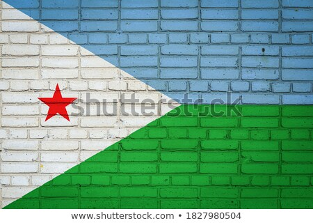 Flag of Djibouti on brick wall Stock photo © creisinger