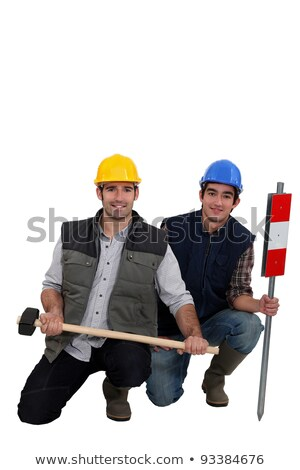 duo of workman posing in studio Stock photo © photography33
