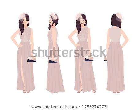 marido · ofrecimiento · collar · esposa · blanco · sonrisa - foto stock © photography33