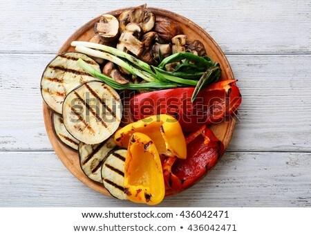 colorato · alla · griglia · estate · verdura · vegan · vegetariano - foto d'archivio © m-studio