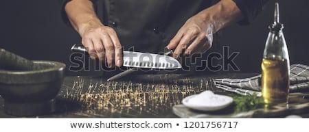 büyük · mutfak · bıçak · yalıtılmış · beyaz - stok fotoğraf © tetkoren