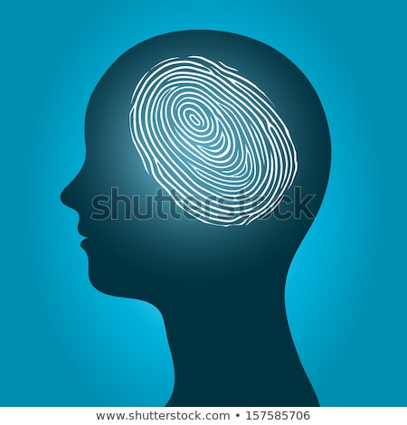Mujer cabeza huellas dactilares silueta femenino Foto stock © adrian_n