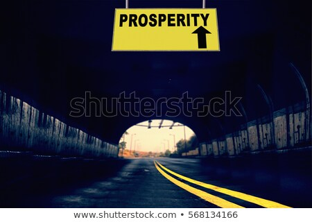 Prosperity on Highway Signpost. Stock photo © tashatuvango