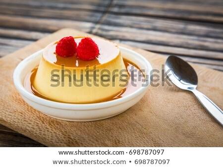 karamel · vanille · vla · dessert · voedsel - stockfoto © m-studio