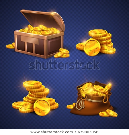 Taxes sign on golden coins Stock photo © olandsfokus