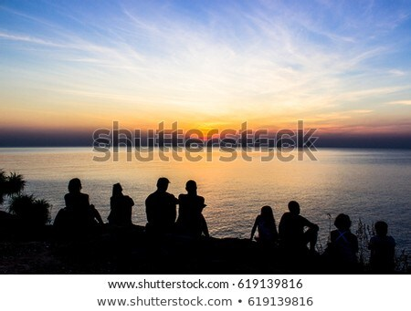 View point at sunset Stock photo © joyr