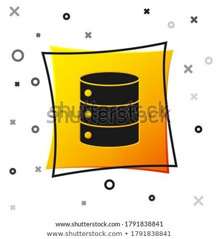 Pc Network Yellow Vector Icon Button Stock photo © rizwanali3d