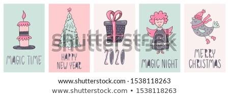 Christmas poscard Stock photo © adrenalina