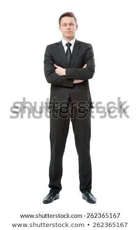 Portre başarılı işadamı eller kravat profesyonel Stok fotoğraf © gravityimaging