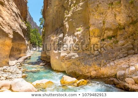 Mountains landscape, Samaria Gorge in Crete Greece Stock photo © blasbike