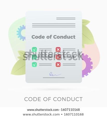 Kurumsal tanıtım örnek siluetleri konuşmacı Stok fotoğraf © ConceptCafe