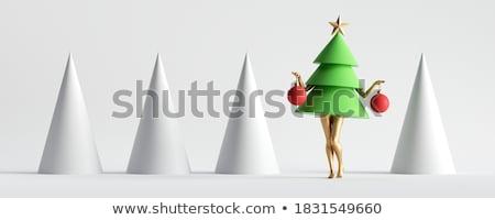 christmas toy on white background isolated 3d illustration stock photo © iserg