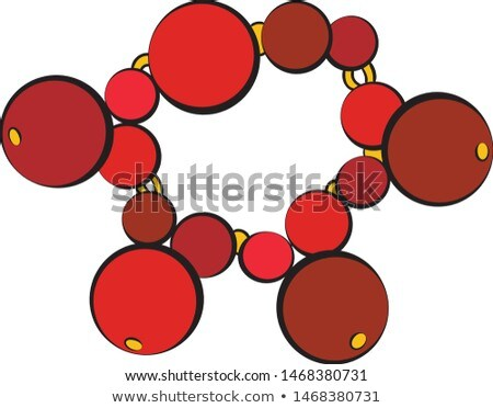 Bracelet with Red Gemstones Vector Illustration Stock photo © robuart