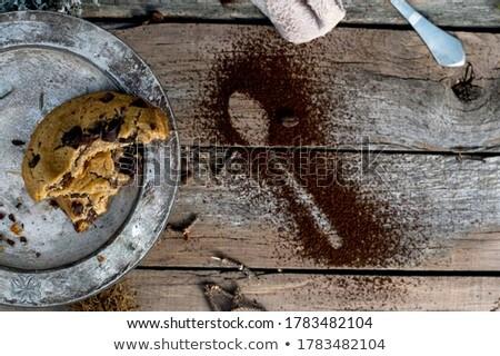yulaf · kurabiye · bağbozumu · eski · plaka · natürmort - stok fotoğraf © Valeriy