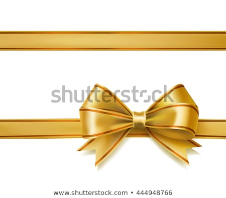 Stock fotó: Ajándék · szalag · arany · íj · csomagolás · arany