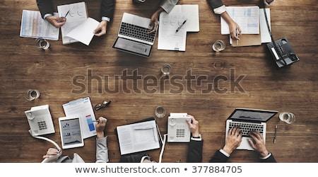 üzletemberek megbeszélés csapat pénzügyi iratok konferencia Stock fotó © snowing