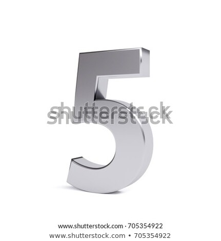 Number five on white background. Isolated 3D illustration Stock photo © ISerg