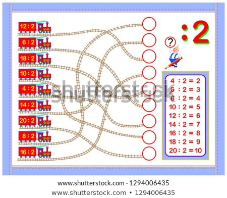 Number two multiplication circle worksheets Stock photo © colematt